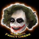 FANCY DRESS WIG / MASK ~ DELUXE DARK KNIGHT JOKER MASK